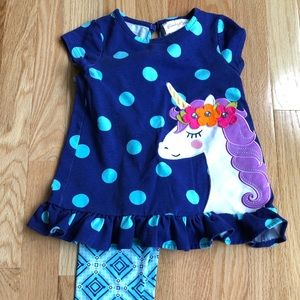 Emily Rose 3T unicorn outfit